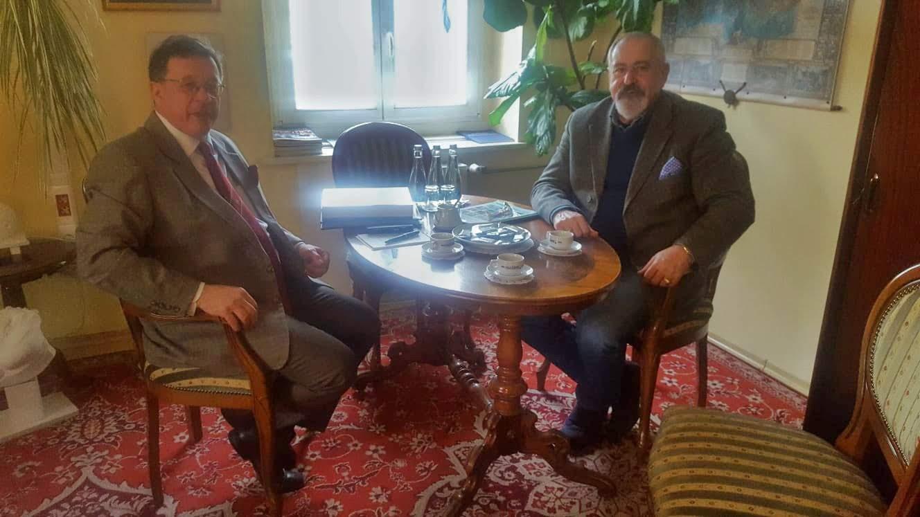 Spotkanie z pełnomocnikiem prezydenta Opola ds. kontaktów z zagranicą