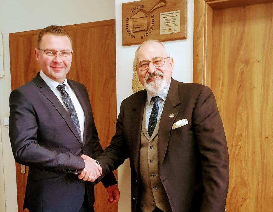 Spotkanie z Prezesem  najstarszej Spółdzielni Pszczelarskiej