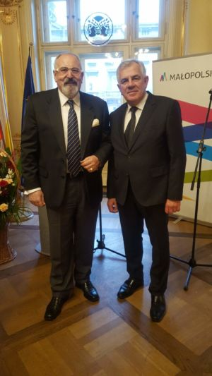 Konsul Generalny Ukrainy Oleh Mandiuk i Konsul Janusz Krzywoszyński