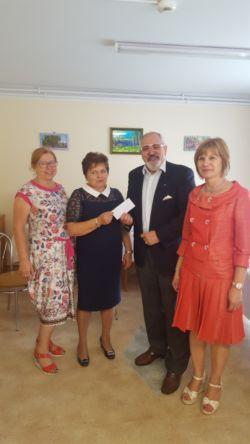 Przekazanie dotacji dla środowiskowego domu samopomocy w Bychawie