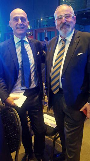 Konsul honorowy Janusz Krzywoszyński wraz z Ambasadorem Republiki Włoskiej, Jego Ekscelencją, Aldo Amati
