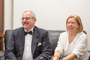 Konsul honorowy Kirgistanu Janusz Krzywoszyński wraz z małżonką