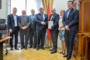 Uroczystość nominacji w ambasadzie Kirgistanu w Wiedniu